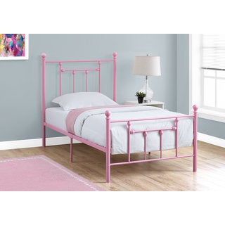 Monarch Pink Metal Twin-size Bed