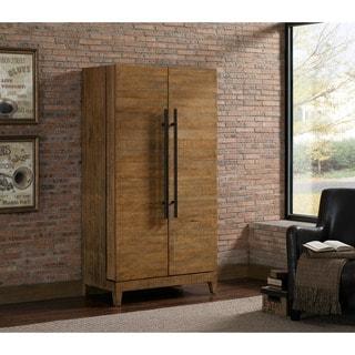 Pendleton Brown Reclaimed Wood Wine Cabinet