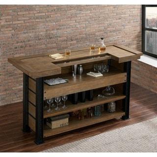 Pendleton Brown Reclaimed Wood and Metal Bar