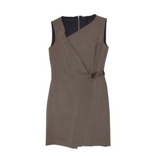 Elie Tahari Lila Size 2 Brown Wrap Dress