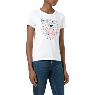Kenzo Women's White Tiger T-shirt (2 options available)