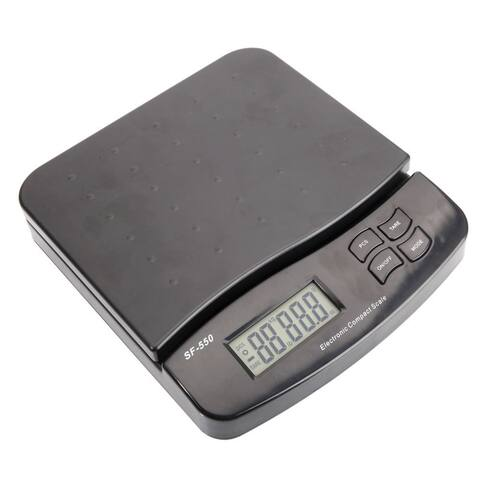 550 25KG/1G SF-550 Portable LCD 5 Digits Plastic Electronic Scale Black