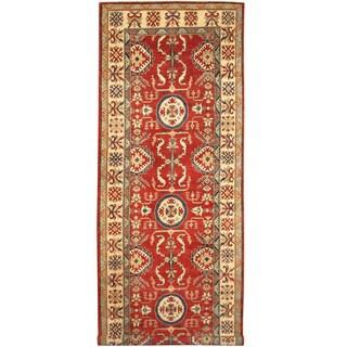 Herat Oriental Afghan Hand-knotted Tribal Kazak Wool Runner (5'3 x 14'5)