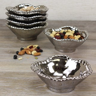 Pampa Bay Titanium Porcelain Set of Snack Bowls