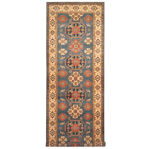 Handmade Kazak Wool Runner (Afghanistan) - 5'1 x 16'5