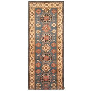 Herat Oriental Afghan Hand-knotted Tribal Kazak Wool Runner (5'1 x 16'5)