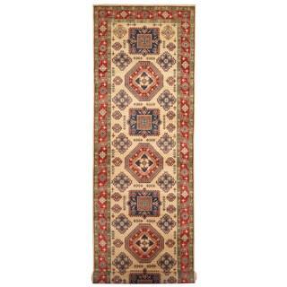 Herat Oriental Afghan Hand-knotted Tribal Kazak Wool Runner - 4'8 x 19'1
