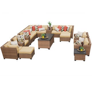 Outdoor Home Bayou Wicker 17-piece Lounge Set
