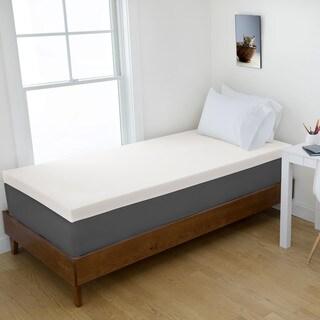 4-inch Memory Foam Dorm Mattress Topper by Authentic Comfort