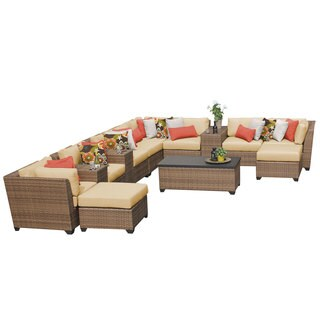 Outdoor Home Bayou Wicker 14-piece Outdoor Patio Lounge Set
