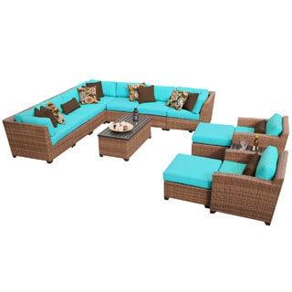 Outdoor Home Bayou Outdoor Patio Wicker Lounge Set (13-piece Set)