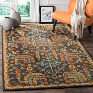 Safavieh Heritage Traditional Oriental Hand-Tufted Wool Charcoal/ Multi Area Rug (9' x 12')