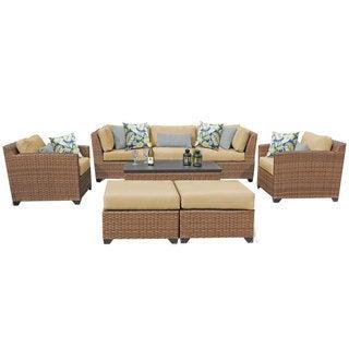Outdoor Home Bayou Wicker 8-piece Outdoor Patio Lounge Set