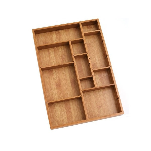 Lipper Adjustable Bamboo Drawer Organizer
