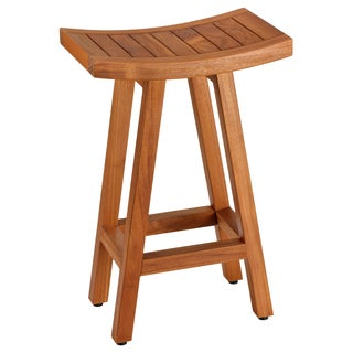 Bare Decor Tori Spa Solid Teak 27.5-inch Bar Stool