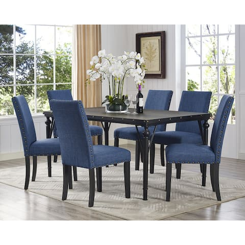 The Curated Nomad Arkin Espresso Wood 7-piece Dining Set