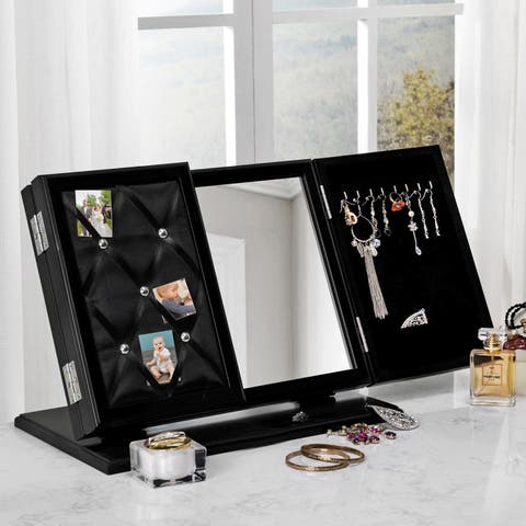 Linda Modern Contemporary 3-in-1 Trifold Tabletop Vanity Mirror