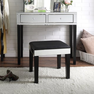 Portia Modern Contemporary Mirror 2-drawer Vanity Table and Stool Set