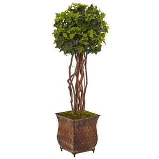 Nearly Natural 30-inch Indoor/Outdoor UV-resistant Faux English Ivy Tree in Planter
