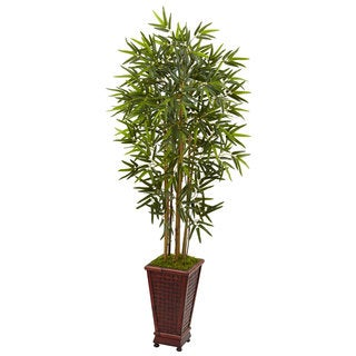 Nearly Natural 5' Bamboo Tree in Decorative Planter