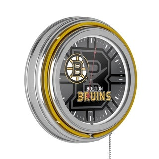 Link to NHL Chrome Double Rung Neon Clock - Watermark Similar Items in Decorative Accessories
