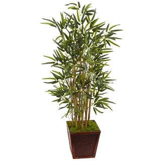 Nearly Natural 4-foot Bamboo Tree in Bamboo Square