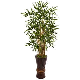 Nearly Natural 4.5-foot Bamboo Tree in Bamboo Planter