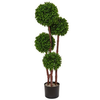 Link to Nearly Natural 3-foot Boxwood Topiary UV Resistant Indoor/ Outdoor Tree Similar Items in Decorative Accessories