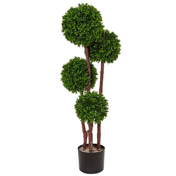 Nearly Natural 3-foot Boxwood Topiary UV Resistant Indoor/ Outdoor Tree. Opens flyout.
