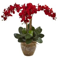 Synthetic Fiber Christmas Flowers & Plants