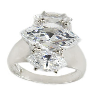 Michael Valitutti Sterling Silver Marquise Cubic Zirconia Ring