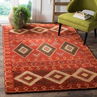 Safavieh Heritage Traditional Oriental Hand-Tufted Wool Red/ Multi Area Rug - 9' x 12'
