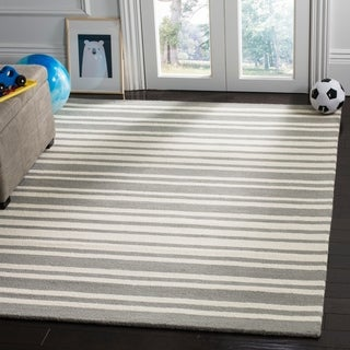 Safavieh Kids Transitional Geometric Hand-Tufted Wool Grey/ Multi Area Rug - 8' x 10'