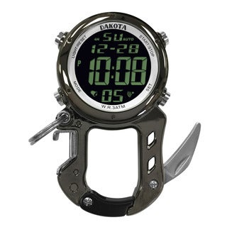 Dakota Men's Digital Zip Clip Watch
