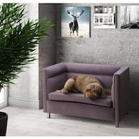 Beagle Velvet Grey Pet Bed Sofa