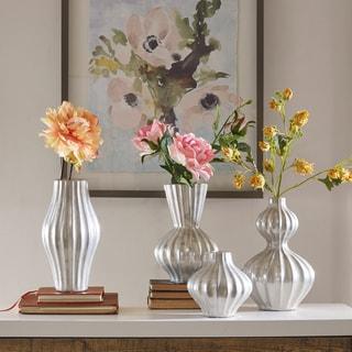 Madison Park Mila Silver Ceramic Vase - Set of 4