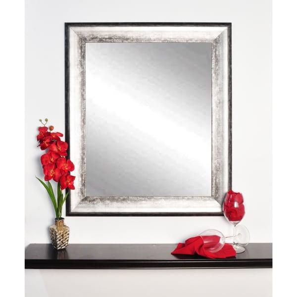 Multi Size BrandtWorks Midnight Silvertone Wall Mirror - Black/Silver