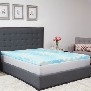 Authentic Comfort 1.5-Inch BlueWave Gel Memory Foam Mattress Topper