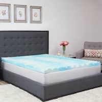 Authentic Comfort 1.5-Inch BlueWave Gel Memory Foam Mattress Topper