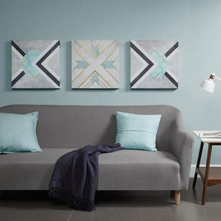 Urban Habitat Axis Grey Printed Canvas with Gold Foil- Set of 3 https://ak1.ostkcdn.com/images/products/16564624/P22896751.jpg?impolicy=medium