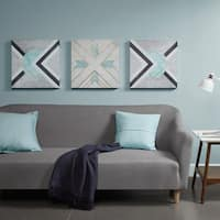 Urban Habitat Axis Grey Printed Canvas with Gold Foil- Set of 3