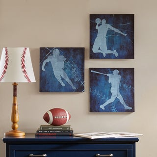 Mi Zone Afterschool Sport Blue Gel Coated Canvas - Set of 3
