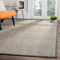 Safavieh Natural Fiber Contemporary Geometric Jute Natural/ Dark Grey Area Rug - 8' x 10'