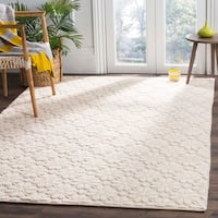 Safavieh Vermont Contemporary Geometric Hand-Woven Wool Ivory Area Rug - 5' x 8'