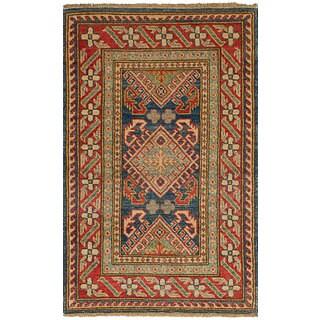 ecarpetgallery Hand-Knotted Finest Gazni Blue Wool Rug (2'5 x 3'10)
