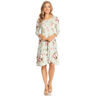 Women's Floral Pattery Jersey Knit Mini Dress