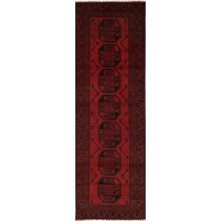eCarpetGallery Hand-knotted Khal Mohammadi Red Wool Runner Rug (2'6 x 9'3)