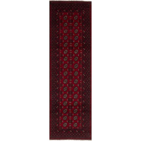 eCarpetGallery Hand-knotted Khal Mohammadi Red Wool Runner Rug (2'7 x 9'5)