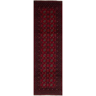 eCarpetGallery Hand-knotted Khal Mohammadi Red Wool Runner Rug (2'7 x 9'5)
