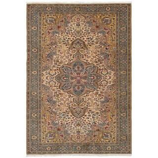 eCarpetGallery Hand-knotted Keisari Ivory Wool Rug (6'6 x 9'7)